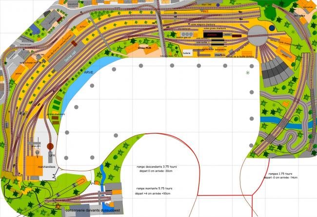mise à jour du niveau 0 suite à l'implantation de la nouvelle gare souterraine autorail niveau -1