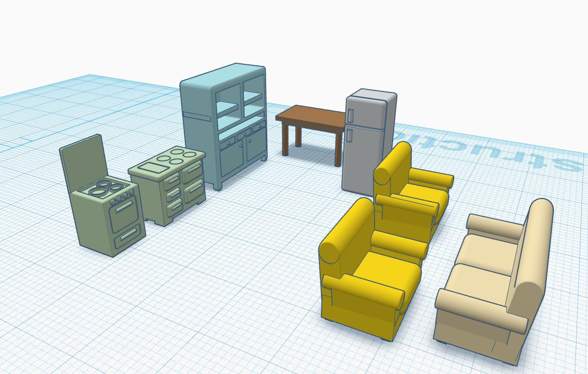 conception de meubles en 3d