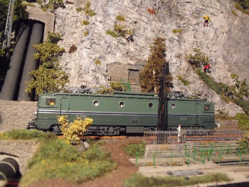 CC 7107 Rivarossi dans le modulino