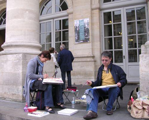 Galerie extérieure grand théatre de Bordeaux mai 2010