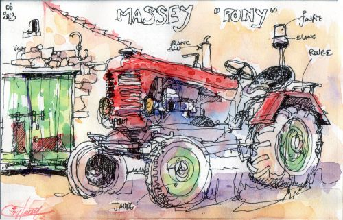 Le tracteur en fin de saison