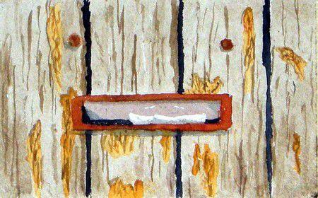 Vieille porte de jardin (détail)