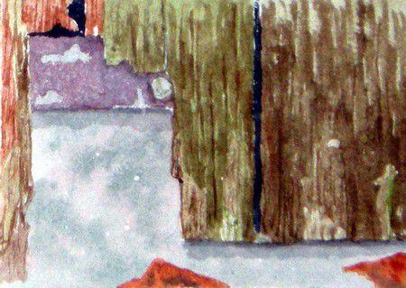 Vieux portillon de jardin (détail)