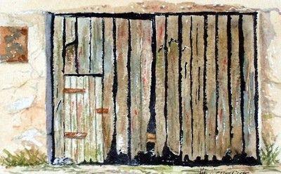 Très vieille porte de grange dans le jura