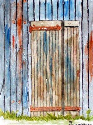 Porte d'une cabane à Gujan-Mestras (Détail)