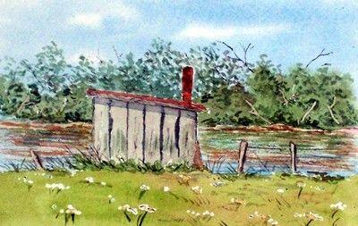 Petite cabane au bord de l'eau