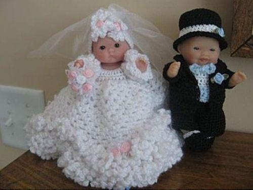 Couple de mariés Itty Bitty réalisé par Martine