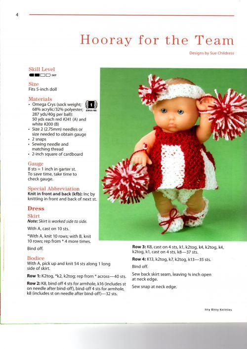 Explications en anglais pour tenue Itty Bitty spéciale Pompom Girl