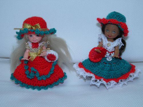 et 2 tenues spéciales fêtes de noël crochetées avec amour