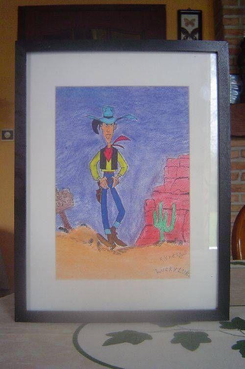 Luky Lucke en crayon de couleur
