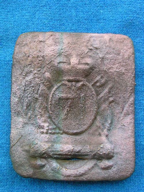 1813 : plaque de baudrier anglaise