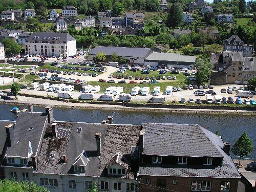 Le parking vu de la ville haute !