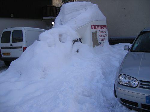 Sacrée hauteur de neige !