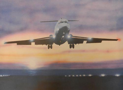 Boeing 727 en final sur l'aéroport de Nice-Côte d'Azur