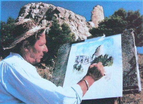 Le peintre René Anglès