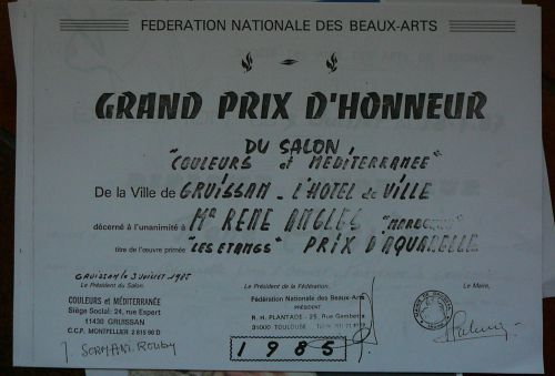 Grand Prix d'honneur ville de Gruissan