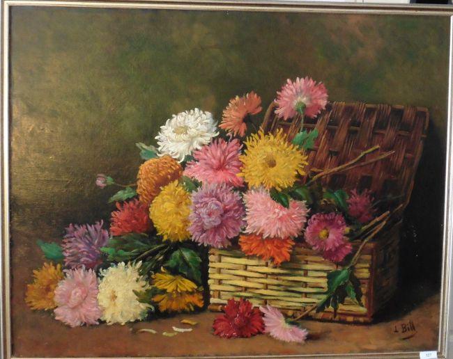 huile sur toile les chrysantèmes