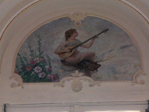 Avignon détail d'une peinture de Lina Bill