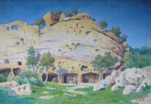 Lamanon ( Vaucluse ) calès Troglodytes