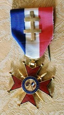 1933 : La Médaille d'Argent de l'ANFB (modèle décerné au titre de la Libération)