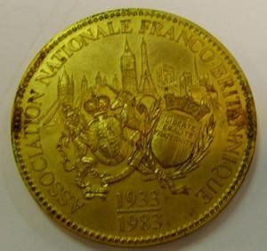 1983 : La Médaille du Cinquantenaire de l'A.N.F.B.(édition limitée de 1983)