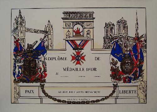 1933 : Diplôme de Médaille d'Or
