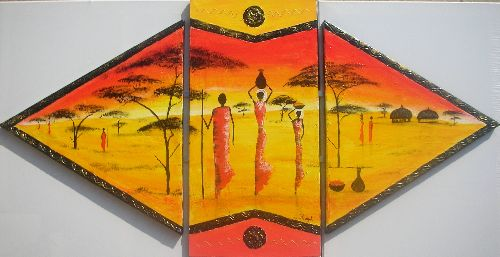 Personnages africains - 60x118 - 200 €