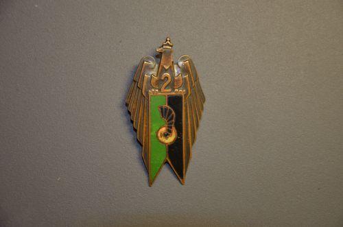 Insigne régimentaire de poitrine du 2ème PAMot