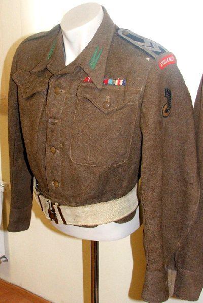 Battle-dress de sergeant-chef du 1er régiment antiaérien