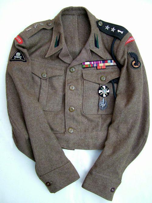 Battle-dress de lieutenant du 1er PAMot
