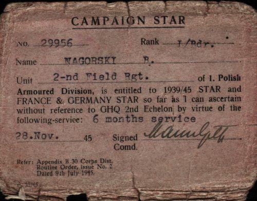 Campaign Star du 2ème PAMot