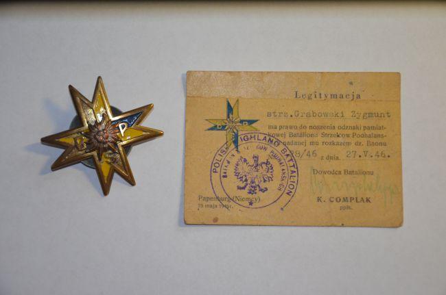 Legitymacja d'un soldat du bataillon de chasseurs de Podhale