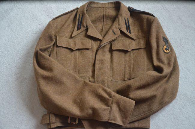 Battle-dress de caporal de l'unité réparation - atelier