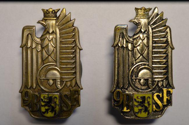 Insignes de poitrine du 9ème bataillon de chasseurs