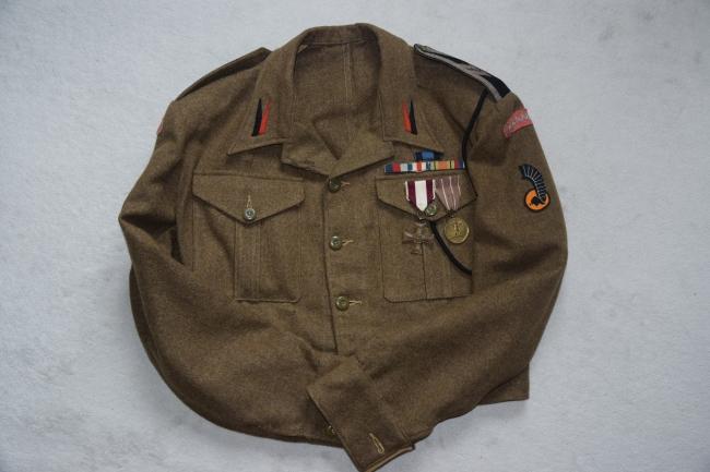 Battle-dress de sergent-chef des unités du génie divisionnaire