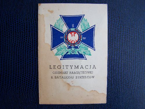 Legitymacja Bronislaw Biel, 8ème Bataillon
