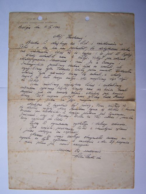 Lettre de Wasilewski
