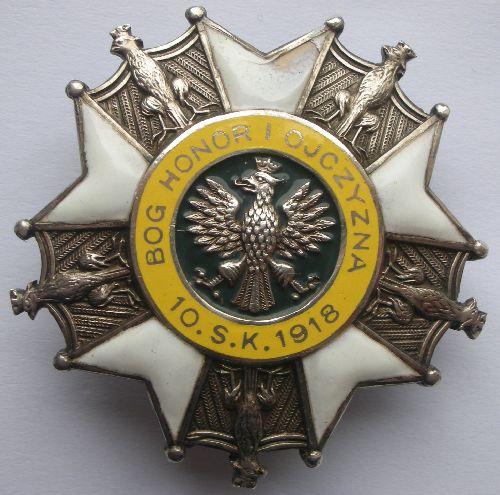 Insigne émaillé du 10ème Régiment de Chasseurs à Cheval