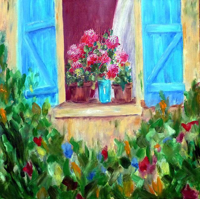 20 - fenêtre fleurie d'après Dreama Tolle Perry 05.JPG