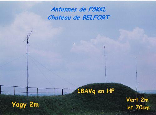 Vue des antennes