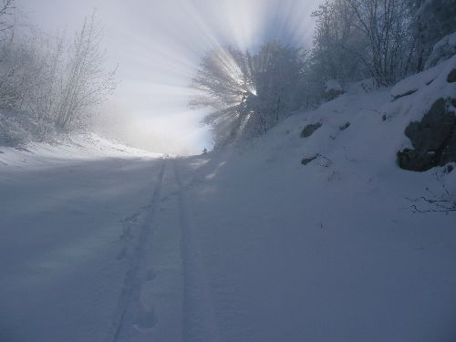 Petit entrainement de début d'hiver,  vers le Pic Saint Michel