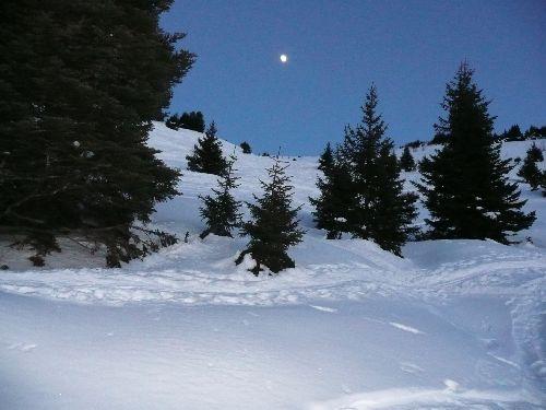 La côte des salières, une belle combe qui garde la neige