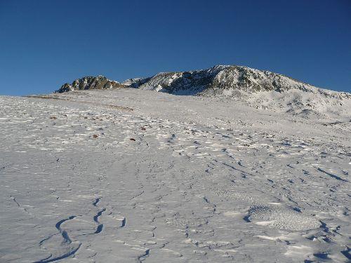 Sur la crête de Bouffier, en début d\'hiver