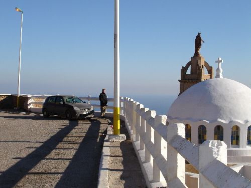 Vue de Santa Cruz, le clocher et le dôme