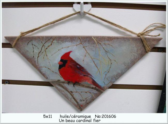 Un beau cardinal fier