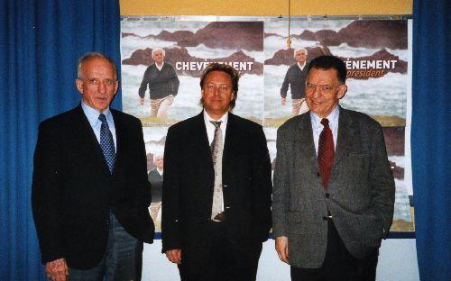 Réunion avec Jean Charbonnel (ministre du Général De Gaulle) et Anicet Le Pors (ministre de François Mitterrand)