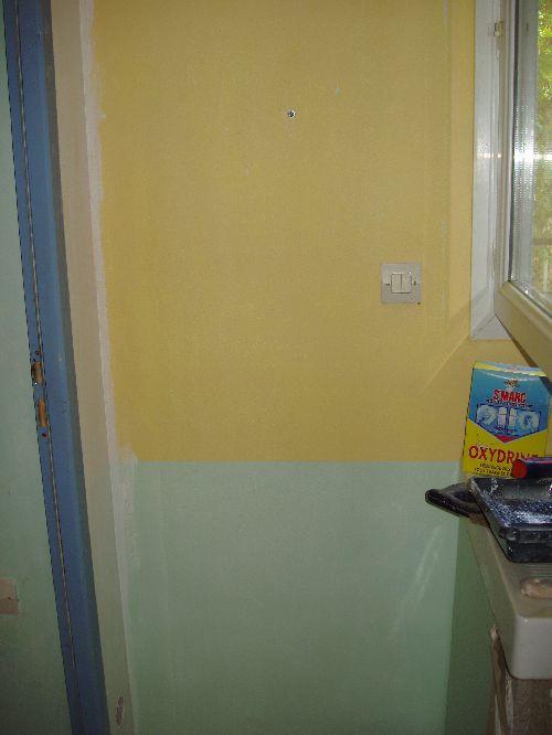 Lessivage des murs et ponçage avant sous couche