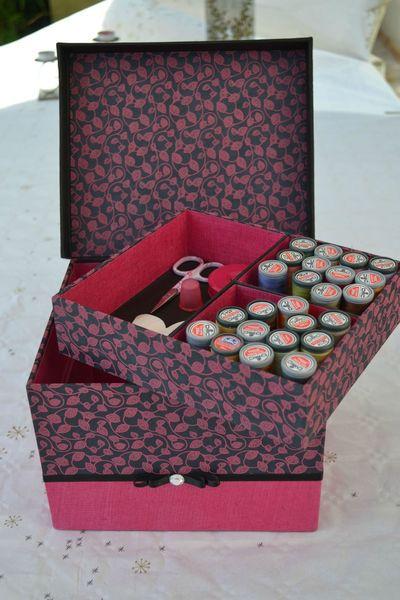 Les bons cadeaux de l 39 art et cr ation cartonnage for Boite a couture remplie