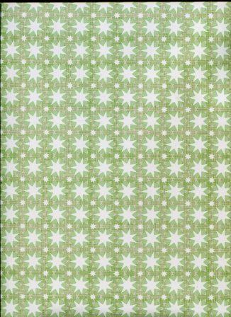 étoiles blanches fond vert - papier l'art et création.jpg