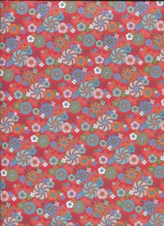 fleur du japon fond rouge - l'art et création.jpg
